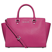Buy MICHAEL Michael Kors Selma Large Leather Top Zip Satchel Bag Online at johnlewis.com