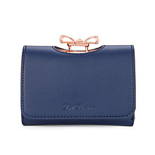 Buy Ted Baker Meelar Small Bow Colour Block Matinee Leather Purse Online at johnlewis.com