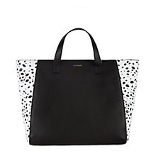 Buy Lulu Guinness Large Cutout Francesca Leather Shopper Bag,  Black / White Online at johnlewis.com