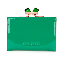 Buy Ted Baker Tanago Small Patent Crystal Popper Matinee Purse, Green Online at johnlewis.com