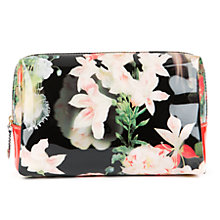 Buy Ted Baker Tesino Large Opulent Bloom Wash Bag, Black Online at johnlewis.com