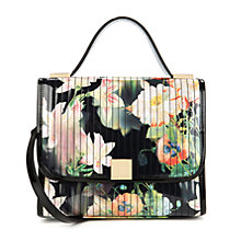 Buy Ted Baker Opela Opulent Bloom Printed Satchel Bag, Black Online at johnlewis.com