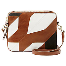 Buy Fossil Sydney Leather Patchwork Across Body Bag, Multi Online at johnlewis.com