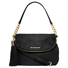 Buy MICHAEL Michael Kors Bedford Convertible Leather Shoulder Bag, Black Online at johnlewis.com