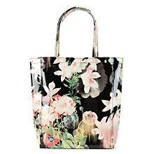 Buy Ted Baker Opcon Opulent Bloom Printed Shopper Bag, Black Online at johnlewis.com