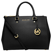 Buy MICHAEL Michael Kors Sutton Large Leather Satchel Bag Online at johnlewis.com