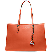 Buy MICHAEL Michael Kors Jet Set Travel Tote, Orange Online at johnlewis.com