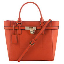 Buy MICHAEL Michael Kors Hamilton Medium Saffiano Leather Tote Bag, Orange Online at johnlewis.com