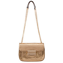 Buy MICHAEL Michael Kors 18ct Gold Small Sloan Leather Shoulder Bag, Pale Gold Online at johnlewis.com