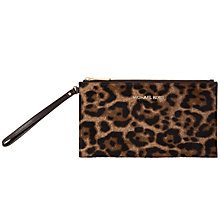 Buy MICHAEL Michael Kors Bedford Large Zip Leather Clutch Bag Online at johnlewis.com