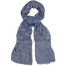 Buy Phase Eight Eva Lace Scarf, Denim Online at johnlewis.com