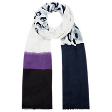 Buy Windsmoor Print Panel Scarf, Multi Dark Online at johnlewis.com