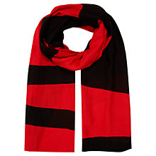 Buy Planet Colour Block Scarf, Red Online at johnlewis.com