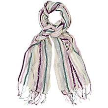 Buy Phase Eight Sequin Stripe Scarf, Multi Online at johnlewis.com