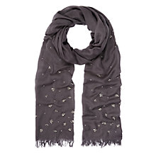 Buy Kaliko Beaded Scarf, Metal Grey Online at johnlewis.com