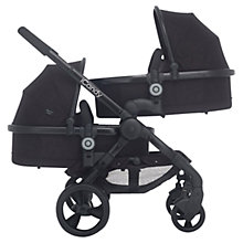 Buy iCandy Peach Blossom 3 Twin Pushchair with Jet Black Chassis and Jet Black Hood Online at johnlewis.com