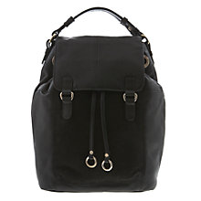 Buy Mint Velvet Cara Back Pack, Black Online at johnlewis.com