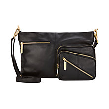 Buy Mint Velvet Sarah Cross Body Bag, Black Online at johnlewis.com