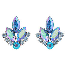 Buy Susan Caplan Vintage 1960s Sarah Coventry Silver Plated Leaf Clip-On Earrings, Silver / Blue Online at johnlewis.com