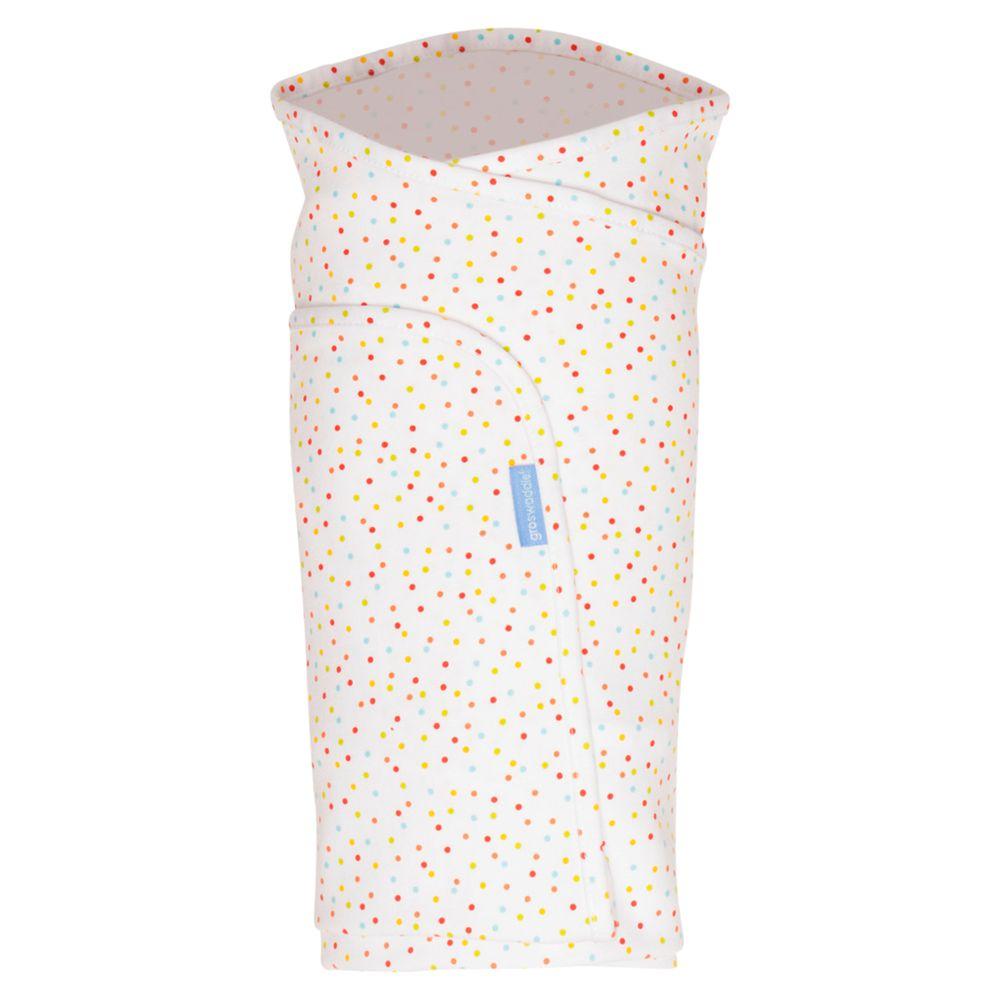 Grobag Gro-Swaddle Bear Swaddle Baby Blanket, Pack of 2, White/Multi