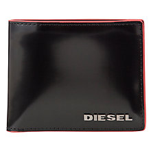 Buy Diesel Neela Xs Leather City Wallet, Black Online at johnlewis.com