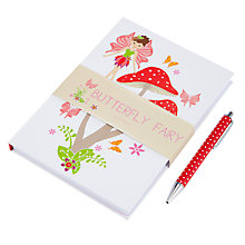 Buy John Lewis Butterfly Fairy Notebook & Glitter Pen Online at johnlewis.com