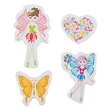 Buy John Lewis Snowflake Fairy Erasers Set Online at johnlewis.com
