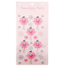 Buy John Lewis Snowflake Fairy Sticker Set, Pink Online at johnlewis.com