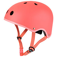 Buy Micro Scooters Safety Helmet, Coral, Small Online at johnlewis.com