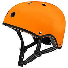 Buy Micro Scooters Safety Helmet, Matt Orange, Small Online at johnlewis.com