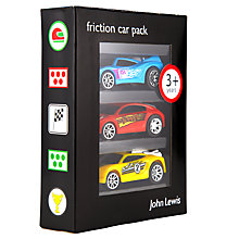 Buy John Lewis Friction Cars, Pack of 3 Online at johnlewis.com
