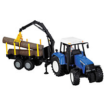 Buy John Lewis Blue Tractor & Log Handler Online at johnlewis.com