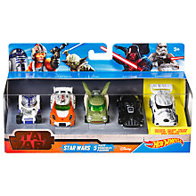 Buy Hot Wheels Star Wars Character Cars, Pack of 5 Online at johnlewis.com