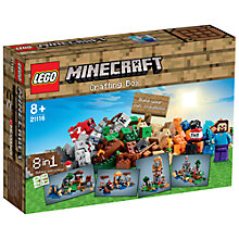 Buy LEGO Minecraft Crafting Box Online at johnlewis.com