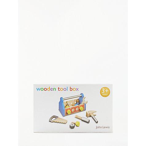 buy john lewis wooden toolbox set john lewis. Black Bedroom Furniture Sets. Home Design Ideas