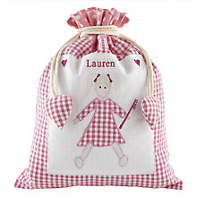 Buy Cambric & Cream Gingham Washbag, Pink Online at johnlewis.com