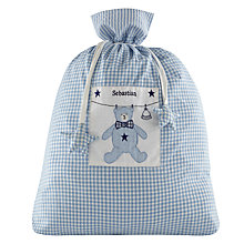 Buy Cambric & Cream Gingham Christmas Sack, Blue Online at johnlewis.com