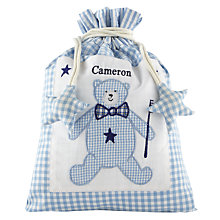 Buy Cambric & Cream Gingham Washbag, Blue Online at johnlewis.com