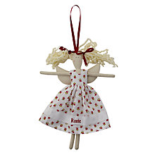 Buy Cambric & Cream Red Roses Fairy Doll Online at johnlewis.com