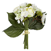 Buy Rose and Hydrangea Bunch, White Online at johnlewis.com