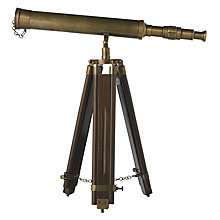 Buy John Lewis Decorative Telescope with Stand Online at johnlewis.com