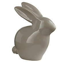 Buy Leonardo Rabbit Ceramic Ornament, Grey Online at johnlewis.com