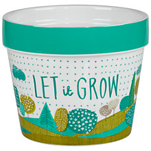 Buy Thoughtful Gardener Let it Grow Indoor Plant Pot Online at johnlewis.com
