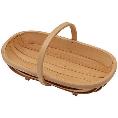 Burgon & Ball Traditional Wooden Trug, Medium