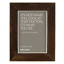 "Buy John Lewis Sheesham Wooden Frame, Brown/White, 5 x 7"" (13 x 18 cm) Online at johnlewis.com"