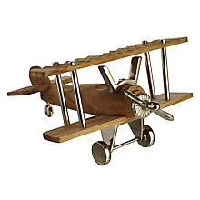 Buy John Lewis Nickle and Wood Aeroplane Online at johnlewis.com