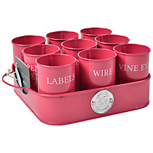 Buy Sophie Conran Gubbins Pots, Raspberry Online at johnlewis.com