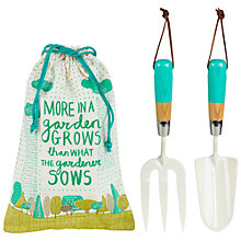 Buy Thoughtful Gardener Fork & Trowel Set in Cotton Bag Online at johnlewis.com
