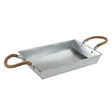 Buy John Lewis Croft Collection Tray with Rope Handle Online at johnlewis.com