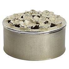 Buy John Lewis Flower Jewel Box, Silver Online at johnlewis.com